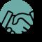 Trëma Lingua_icon_handshake blue